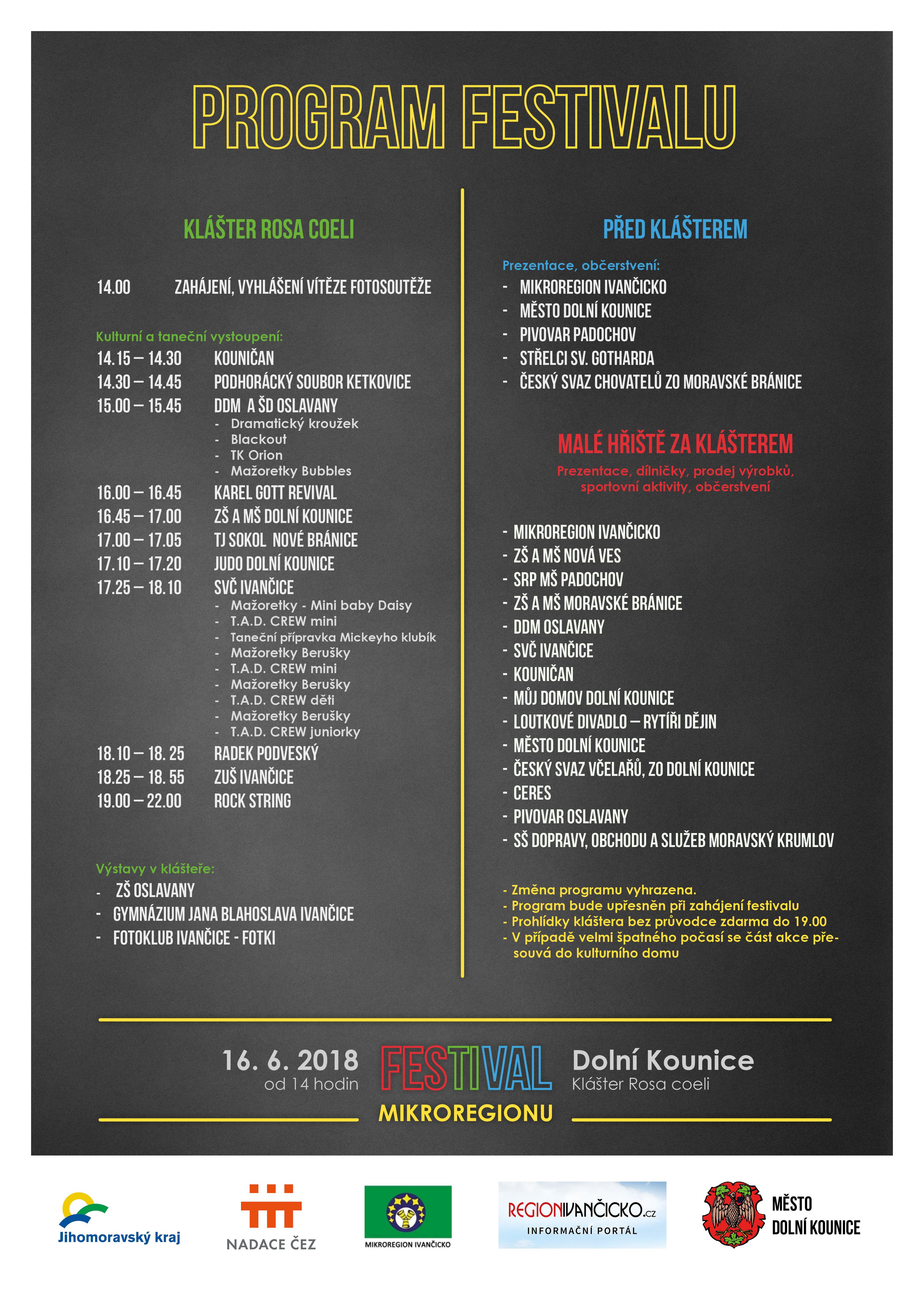 Festival MRI - Program akce