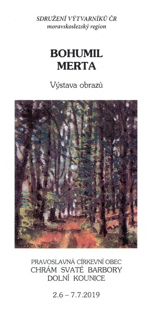 4. Výstava obrazů Bohumila Merta v Barborce