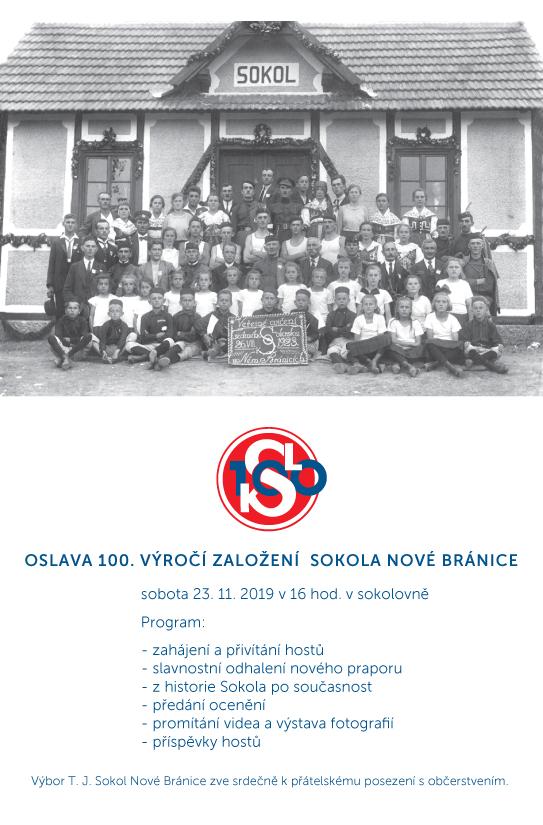 Sokol 100 . výročí pozvánka