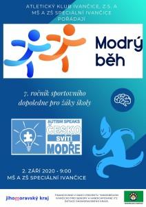 Plakát - modrý běh