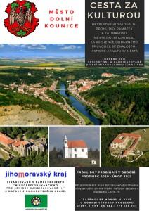 Plakát - prohlídky Dolních Kounic