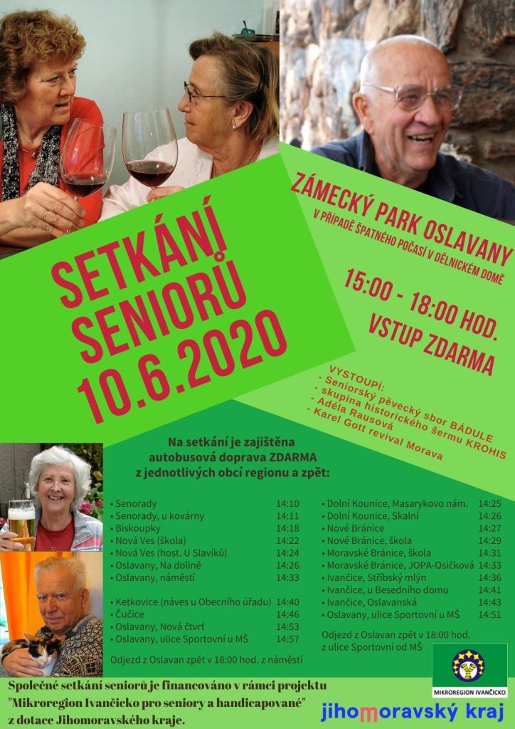 Setkání seniorů - plakát